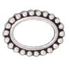 Bead Frame Beaded Oval 6X9mm Antique Silver
